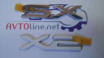 Надпись (эмблема) SX Ланос, Нубира