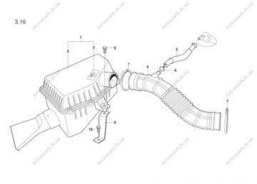 Патрубок (гофра) воздушного фильтра Форза