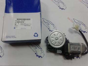 Мотор электростеклоподъёмника передний левый Авео