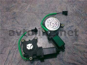 Мотор привода стеклоподъёмника под крест левый Ланос