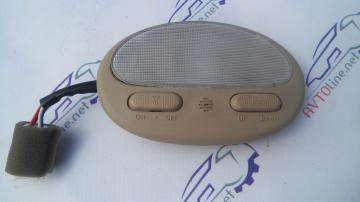 Плафон освещения салона Авео с кнопкой управления люком (бежевый)