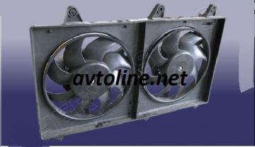 вентилятор Чери Джагги/Кимо(в сборе)2 мотора
