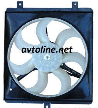 вентилятор Джили(CK)радиатора кондиционера(в сборе)